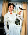 Mary Poppins, giving me the bird.