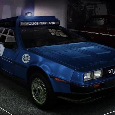 TARDIS/DeLorean hybrid. Geek wet dream.