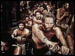 Nothing like a bunch of sweaty, half-naked Roman slaves to get you in the mood.