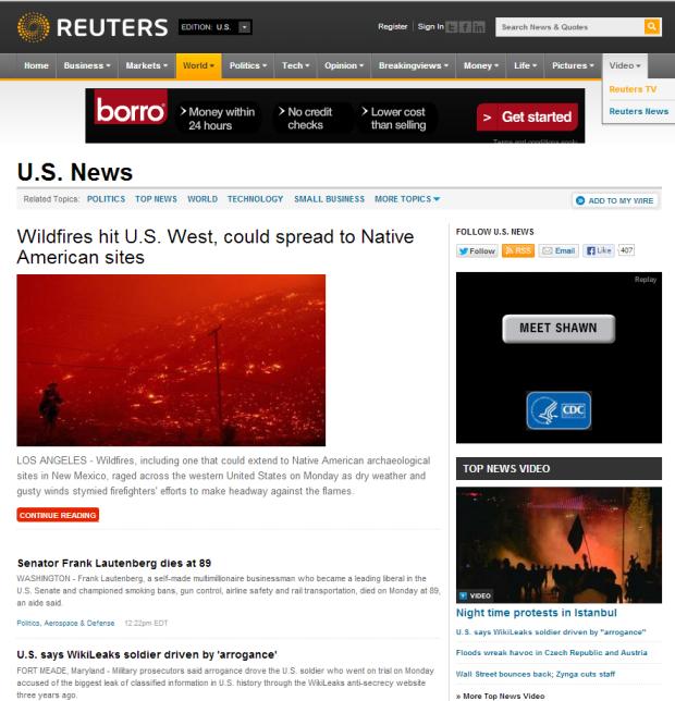 Reuters Bradley Manning