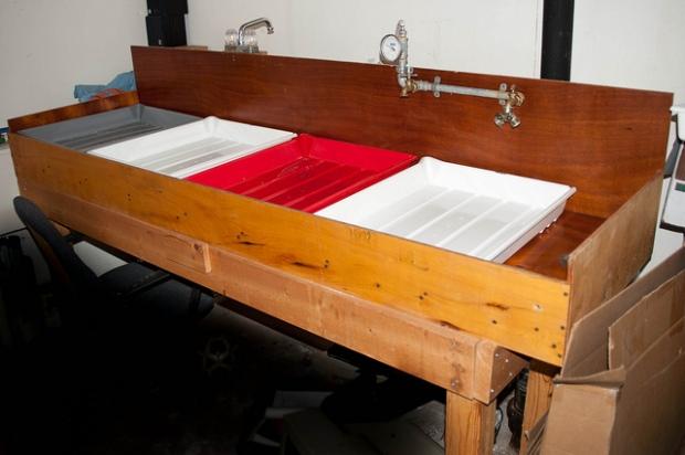 Darkroom trays.